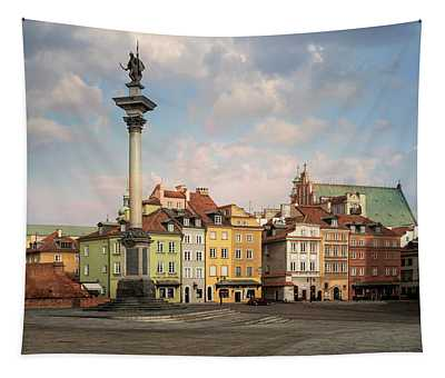 Tapestry featuring the photograph Warsaw On A Sunny Morning by Jaroslaw Blaminsky