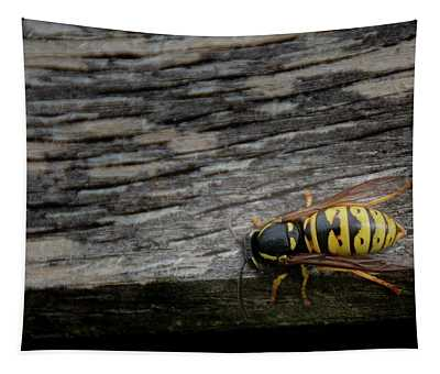 Wasp On Wood Tapestry