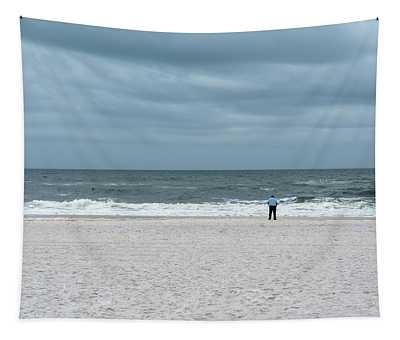 Watching The Waves Tapestry