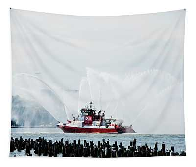 Water Boat Tapestry