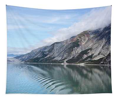 Water, Mountains And Clouds Tapestry