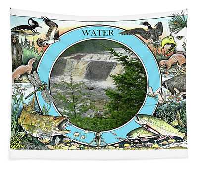 Water - The Circle Of Life Tapestry