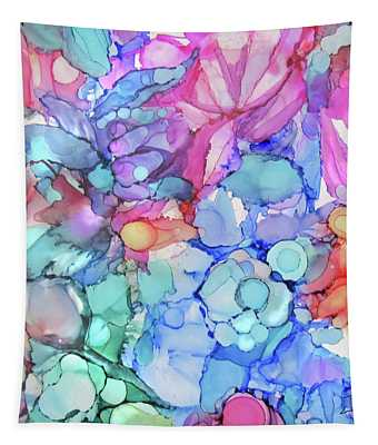 Watercolor Flowers Tapestry