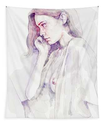 Watercolour Sensual Portrait Tapestry