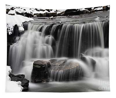 Waterfall And Snow Tapestry