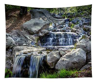Waterfall At Descanso Gardens Tapestry