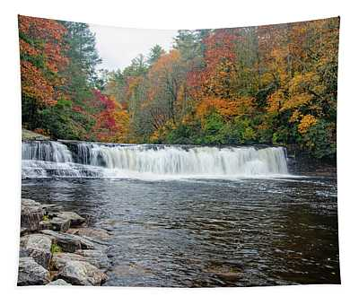 Waterfall In Autumn Tapestry