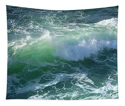 Wave At Montana De Oro Tapestry