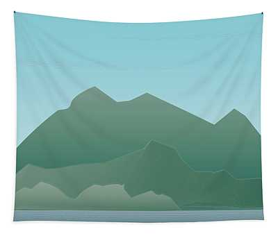 Wave Mountain Tapestry