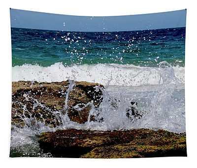 Wave Spray Tapestry
