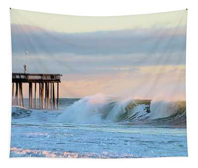 Waves At The Inlet Beach Tapestry