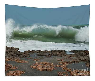 Waves At Work Tapestry