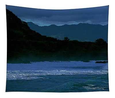 Waves In The Pacific Ocean, Waimea Bay Tapestry