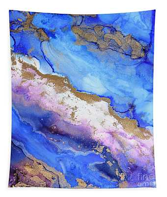 Waves Of Abstract Gold Tapestry