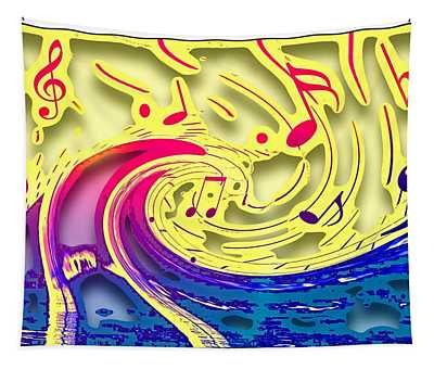 Waves Of Music 3d Tapestry