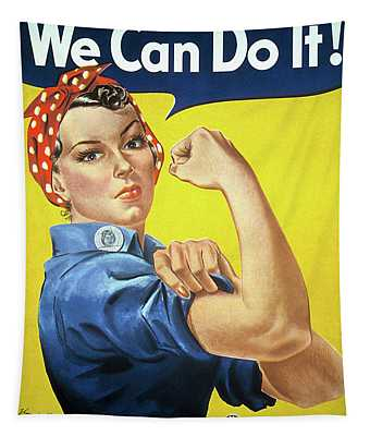We Can Do It - Rosie The Riveter  Tapestry