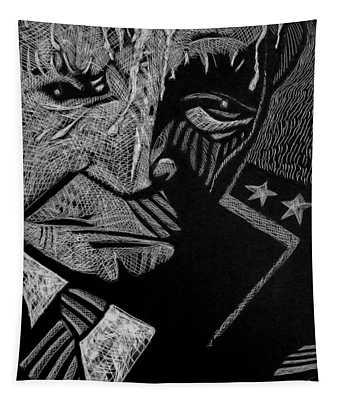 Weary Warrior. Tapestry