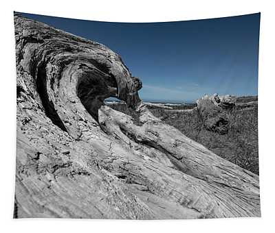 Weathered Wood On The Beach Tapestry