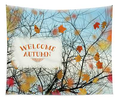 Welcome Autumn Tapestry