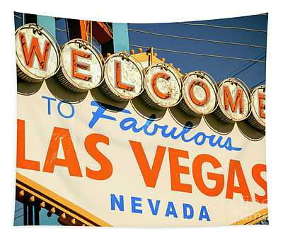 Welcome To Las Vegas Retro Tapestry