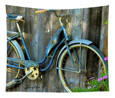 Western Flyer Vintage Bicycle Tapestry