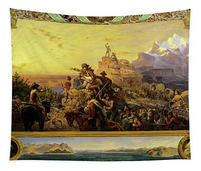 Westward The Course Of Empire Takes Its Way, 1861 Tapestry