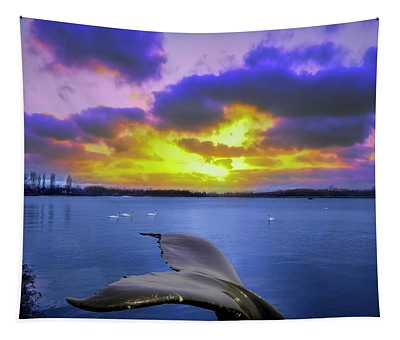 Whale Tail Tapestry