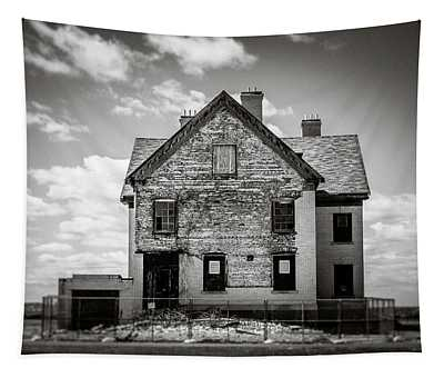 Tapestry featuring the photograph What Remains by Steve Stanger