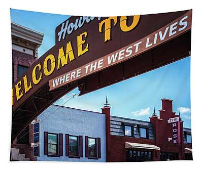 Where The West Lives Tapestry