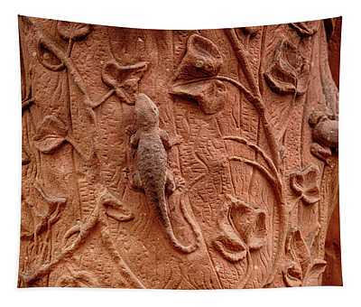 Whimsical And Lifelike Carvings On Heidelberg Castle Tapestry