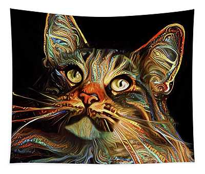 Whiskers The Maine Coon Cat Tapestry