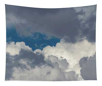 White And Gray Clouds Tapestry