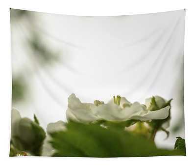 White Blossoms Tapestry