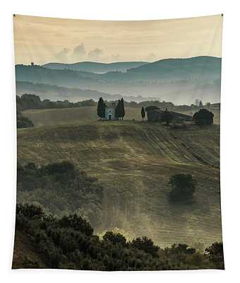 Tapestry featuring the photograph White Chapel by Jaroslaw Blaminsky