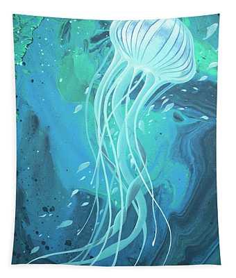 White Jellyfish Tapestry