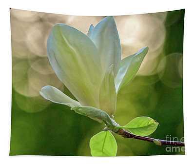 White Magnolia Tapestry