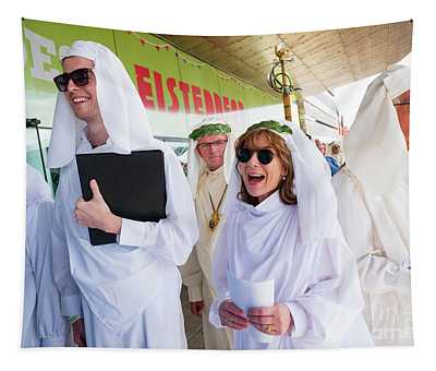 White Robed Bards At The Welsh National Eisteddfod Tapestry