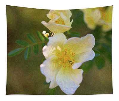 White Rose - Blushing Bride - By Omaste Witkowski Tapestry
