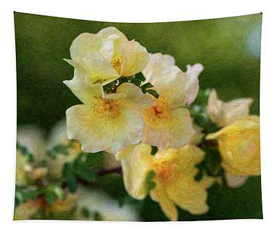 Yellow Rose - Patiently Waiting- By Omaste Witkowski Tapestry