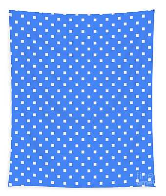 White Squares On A Blue Background- Ddh672 Tapestry