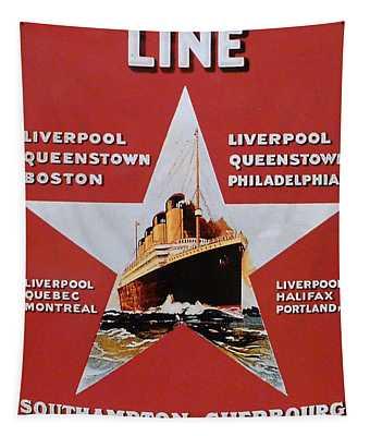 White Star Line Poster 2 Tapestry