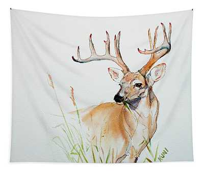 White Tail Buck Tapestry