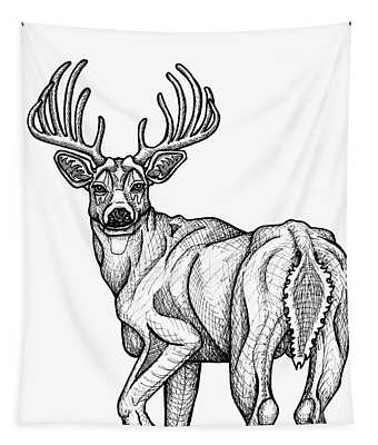 White Tailed Buck Tapestry