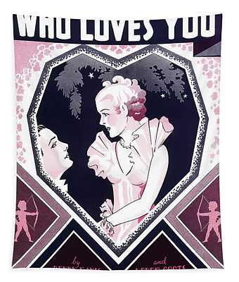 Who Loves You ... Jazz Age Music Sheet Cover 1936 Tapestry