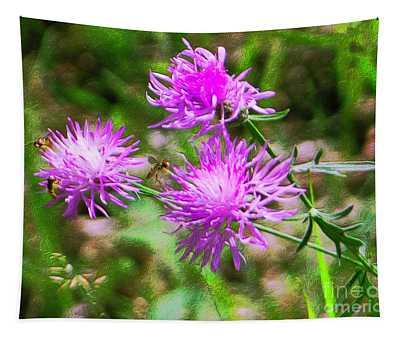 Wild Bergamot Bee Balm Tapestry