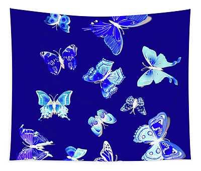 Wild Blue Spring Tapestry