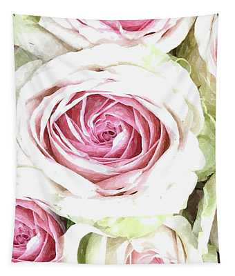 Wild Pink Roses Tapestry