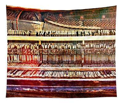 Wild West Piano Relic Tapestry