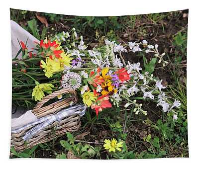 Wildflowers In A Basket Tapestry
