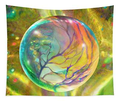 Wind In Wispy Willows Tapestry